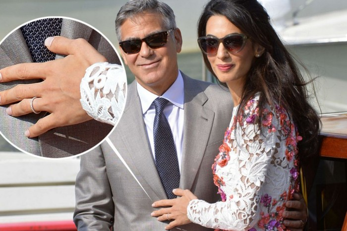 amal alamuddin george clooney matrimonio fede veretta anello diamanti