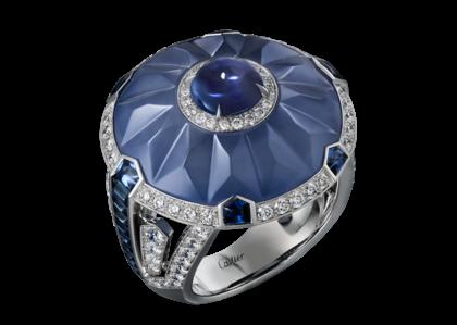calcedonio gioielli anello cartier zaffiri diamanti