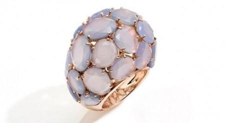 calcedonio gioielli pomellato anello capri oro rosa