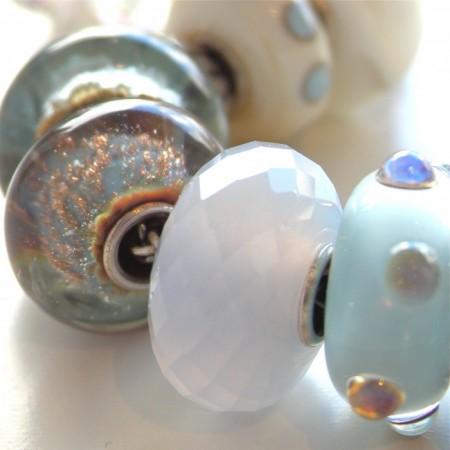 gioielli con calcedonio trollbeads bracciali componibili sfaccettato bead