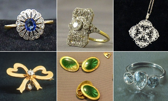 gioielli del titanic transatlantico anello zaffiro diamanti spilla ciondolo spilla gemelli trilogy oro platino