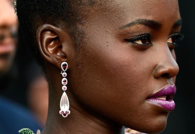 lupita nyong gioielli del festival di cannes 2015 orecchini chopard diamanti