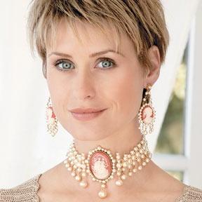 gioielli con cammeo collier perle cammei orecchini