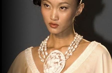 gioielli con cammeo collana maxi perle