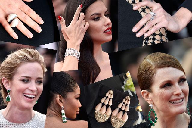 gioielli del festival di cannes 2015 anelli orecchini collane diamanti pietre chopard de grisogono bulgari damiani anna hu