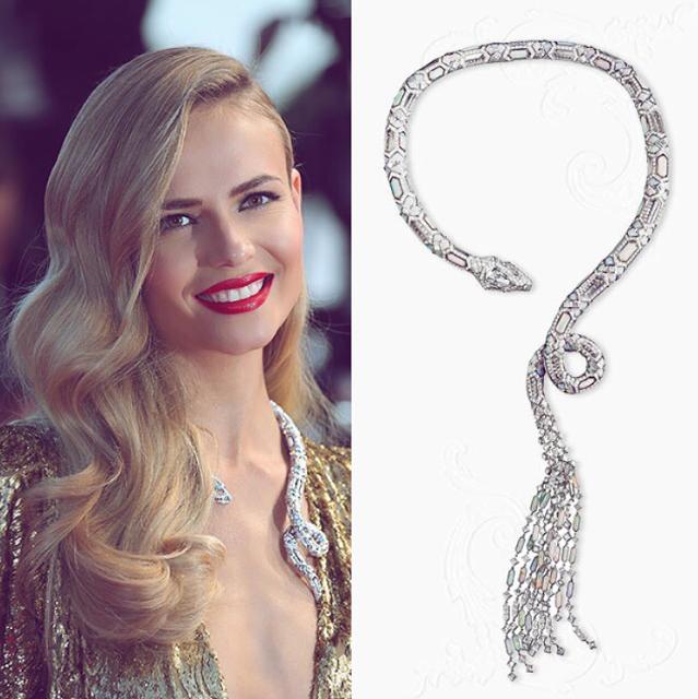 gioielli del festival di cannes 2015 natasha poly collier boucheron serpente diamanti
