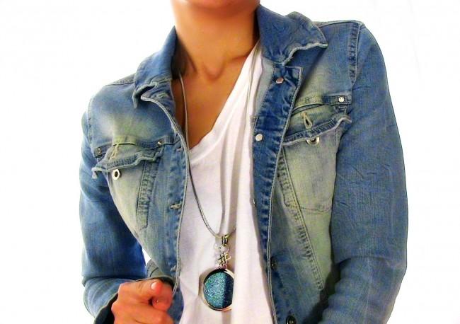trama gioielli tessuto collana ciondolo argento