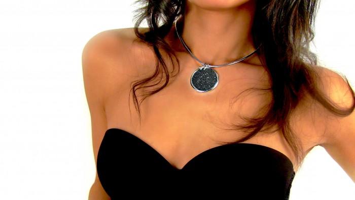 trama gioielli tessuto caterina girocollo ciondolo argento