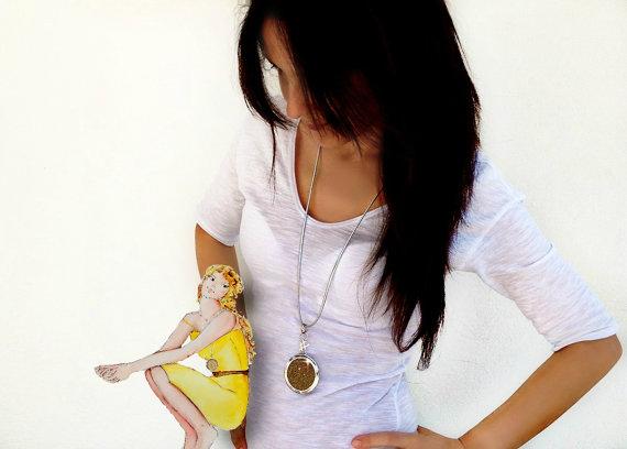 trama gioielli tessuto collana pendente argento