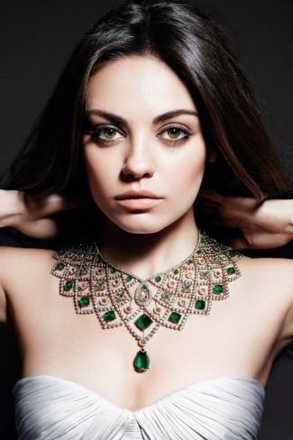 gioielli estate 2015 collana maxi smeraldi diamanti oro