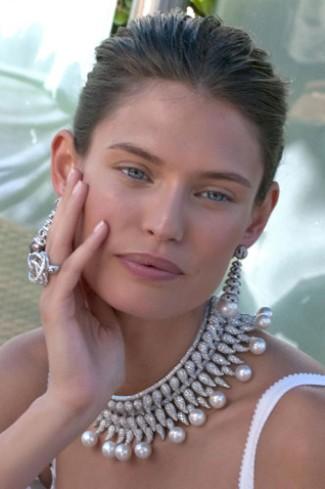 gioielli estate 2015 bianca balti collana maxi diamanti perle anello