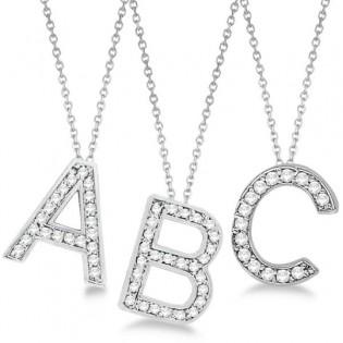 gioielli per neomamme lettere iniziali ciondoli diamanti collana