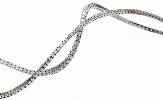 gioielli per neomamme bracciale tennis diamanti