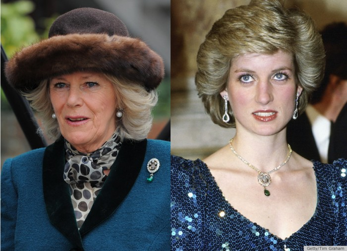 gioielli reali inglesi camilla duchessa cornovaglia spilla smeraldo ciondolo lady diana