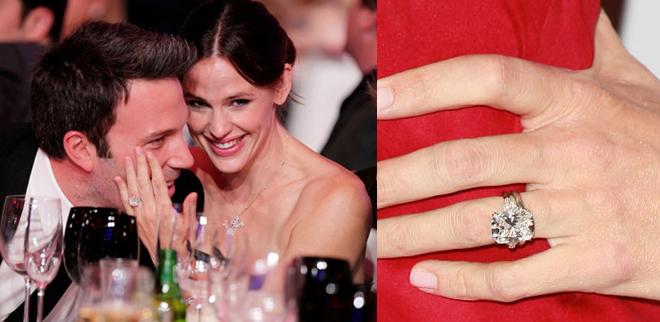 tagli delle pietre anello fidanzamento jennifer garner ben afflect solitario taglio cuscino