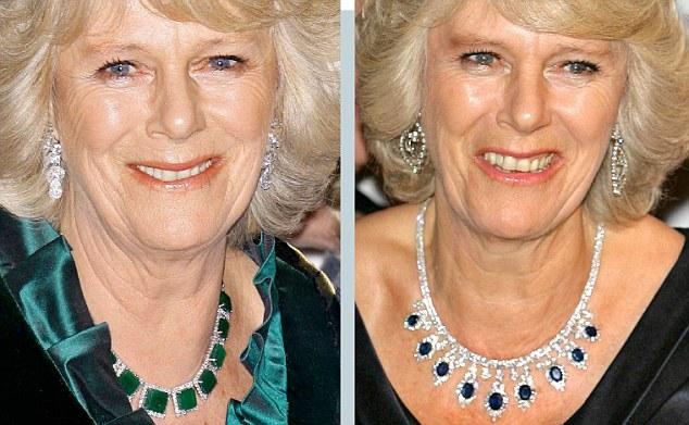gioielli reali inglesi camilla duchessa cornovaglia collana zaffiri smeraldi diamanti