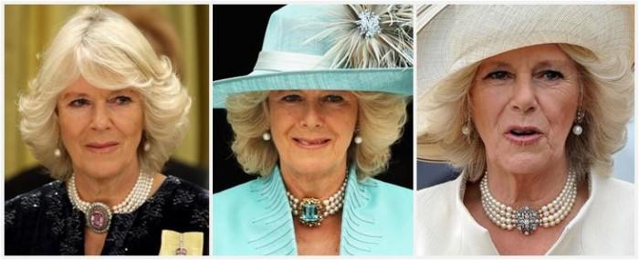 gioielli reali inglesi camilla duchessa di cornovaglia collane perle collarini