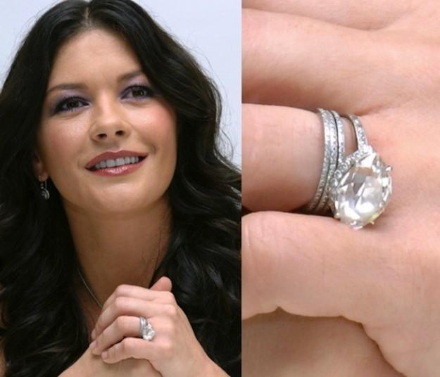 catherina zeta jones anello solitario diamante tagli delle pietre