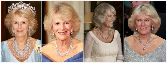 gioielli reali inglesi camilla duchessa collane diamanti collier snake