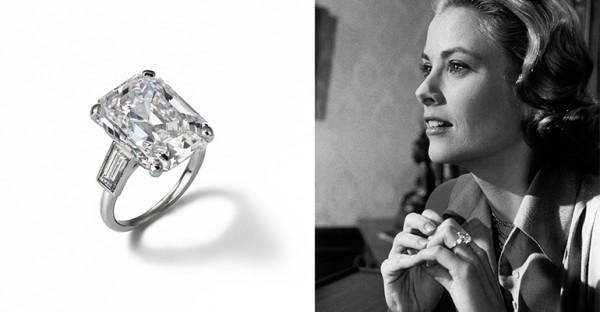 tagli delle pietre anello fidanzamento grace kelly diamante taglio smeraldo
