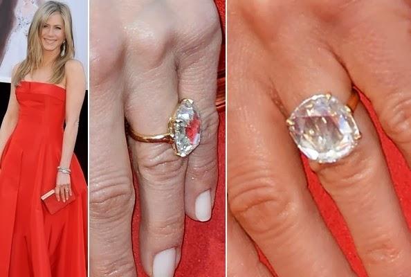 tagli delle pietre jennifer aniston anello fidanzamento solitario diamante radiant