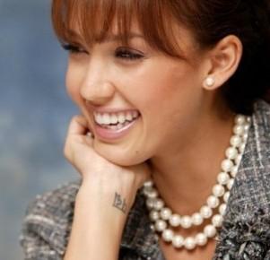 come scegliere le perle filo doppio jessica alba