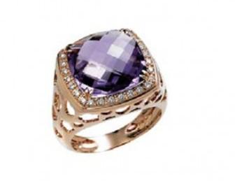 consigli gioielli di natale idee regalo anello ametista oro diamanti