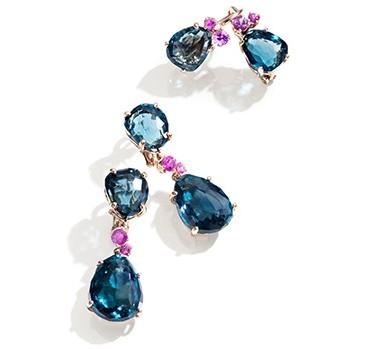 gioielli con topazio orecchini bahia topazio blu london zaffiri rosa pomellato
