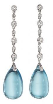 gioielli con topazio orecchini topazio azzurro cabochon