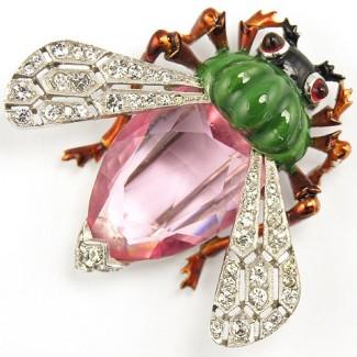 gioielli con topazio spilla con topazio rosa