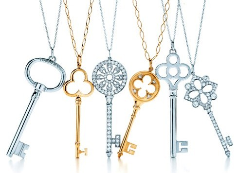 consigli gioielli di natale idee regalo collane ciondoli Tiffany chiavi oro argento diamanti