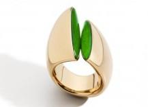 anello al mignolo chevalier vhernier oro giada gioielli