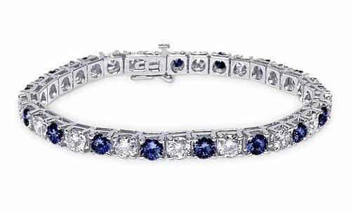 come scegliere bracciale tennis diamanti zaffiri oro bianco regalare
