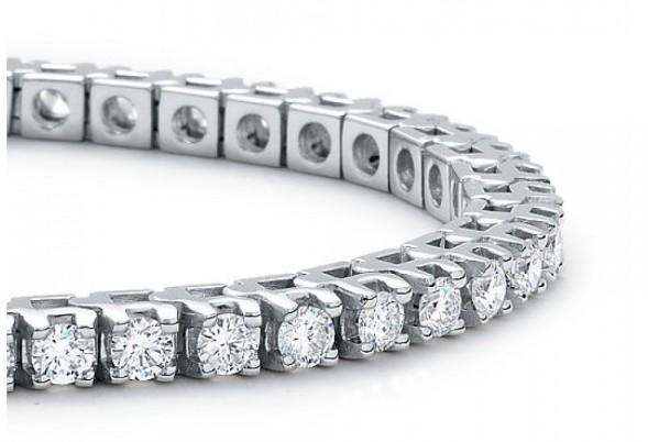 come scegliere bracciale tennis diamanti taglio brillante oro bianco