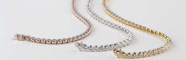 come scegliere bracciale tennis diamanti regalare gioielli oro giallo bianco rosa