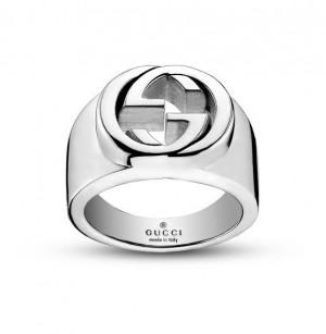 gioielli gucci argento anello grande doppia G