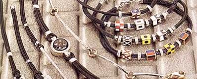 bracciali da uomo giovepluvio acciaio caucciù marinari smalto