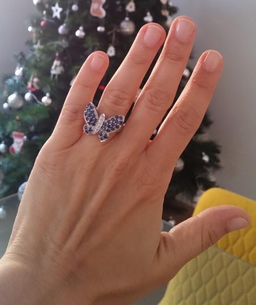 juwelo gioielli anello oro zaffiri