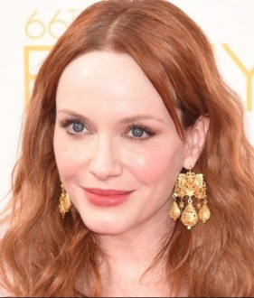 CHRISTINA-HENDRICKS donna autunno oro giallo