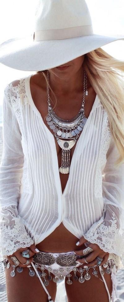 gioielli in estate collana argento