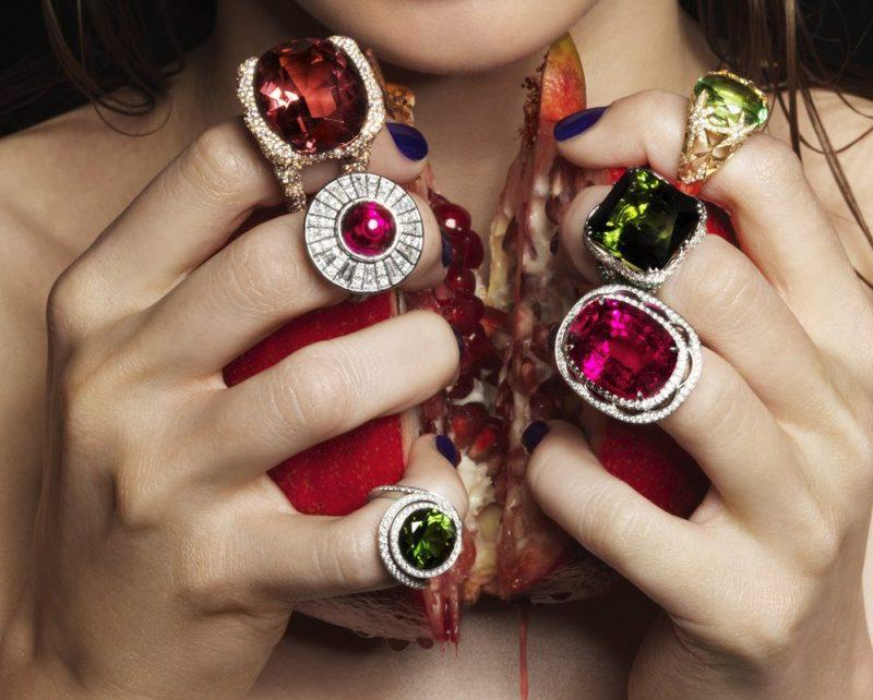 gioielli con tormalina anelli colori tormaline