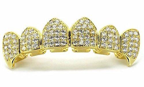 grillz preziosi oro diamanti bianchi