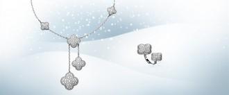 alhambra van cleef arpels pavè diamanti