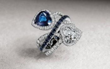 gioielli con zaffiri crivelli gioielli anello cuori diamanti