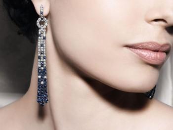 gioielli con zaffiri crivelli gioielli orecchini pendenti