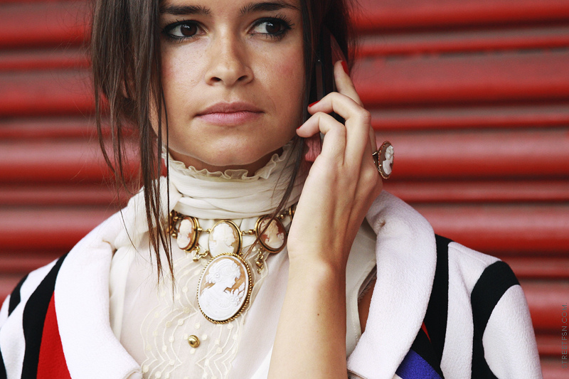 gioielli con cammeo collana orecchini cammei moda