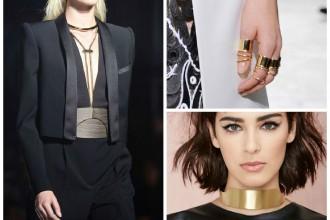 come sono fatti i gioielli dorati sfilate moda orecchini collane anelli