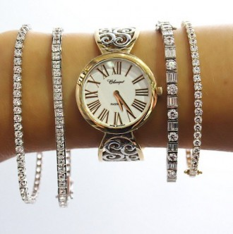 come scegliere bracciale tennis diamanti gioiello oro orologio chopard